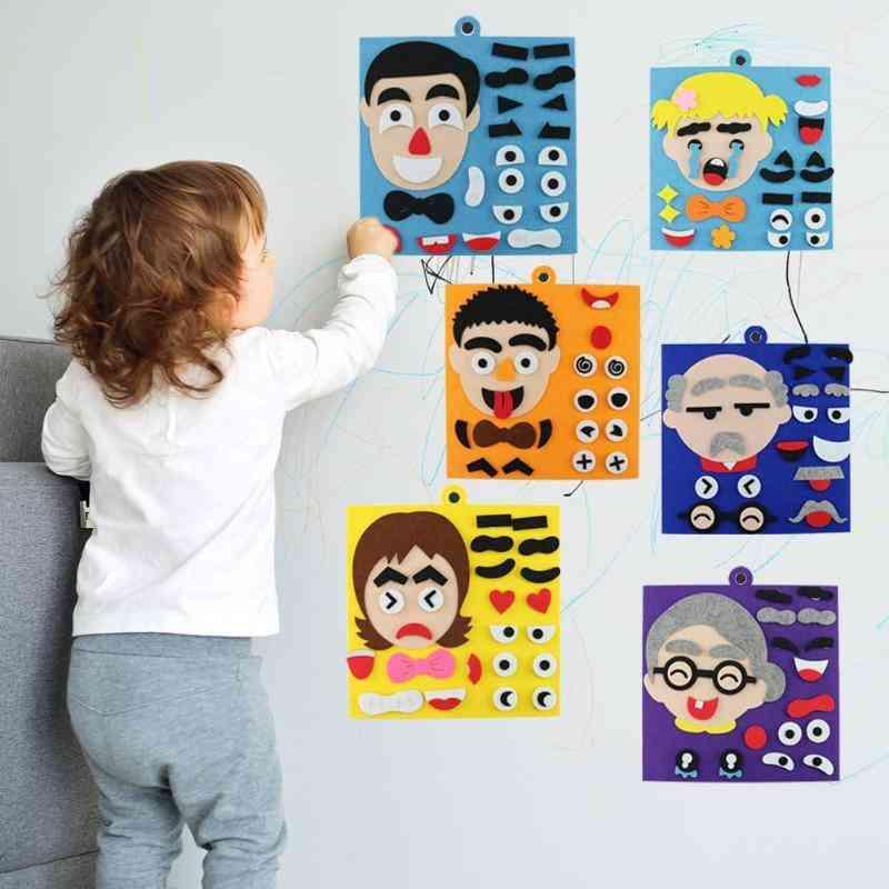 Handmade Diy Emotion Jigsaw Puzzle Toy