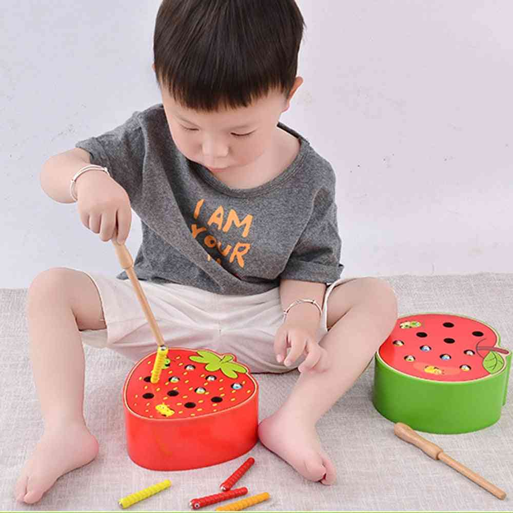 3d Puzzle Baby Wooden- Early Childhood Educational Catch Worm Game