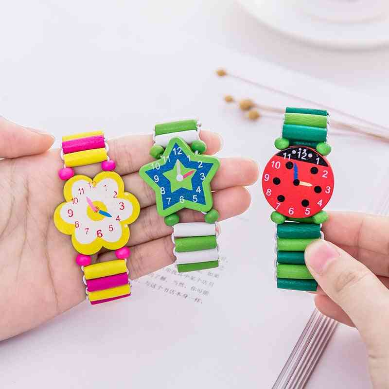 Bracelet Wooden Elastic Band Watch Cute Education