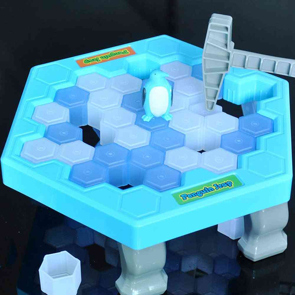 Save Penguin Ice Kids- Puzzle Desk Game Break Ice Hammer Trap Party