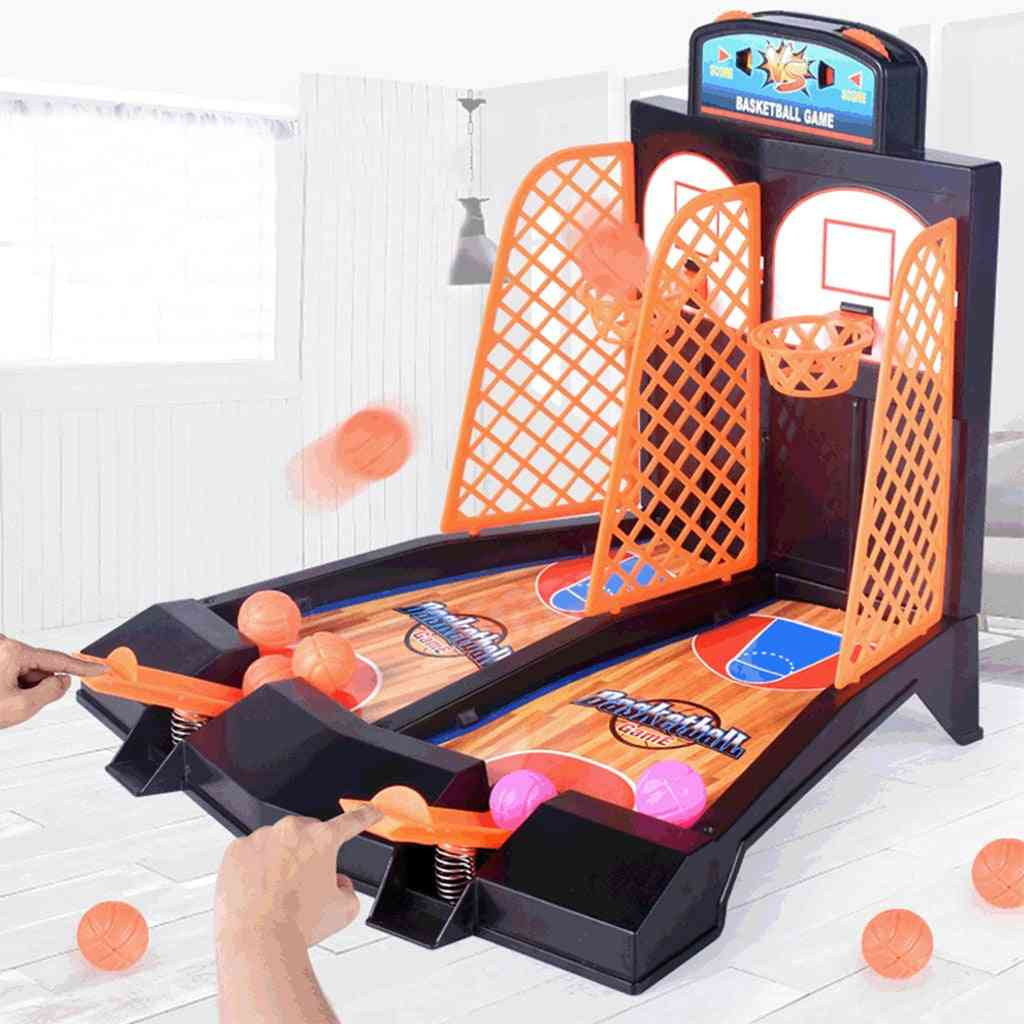 Basketball Shooting Game Desktop Table Reduce Stress Set Sports Toy For Adults