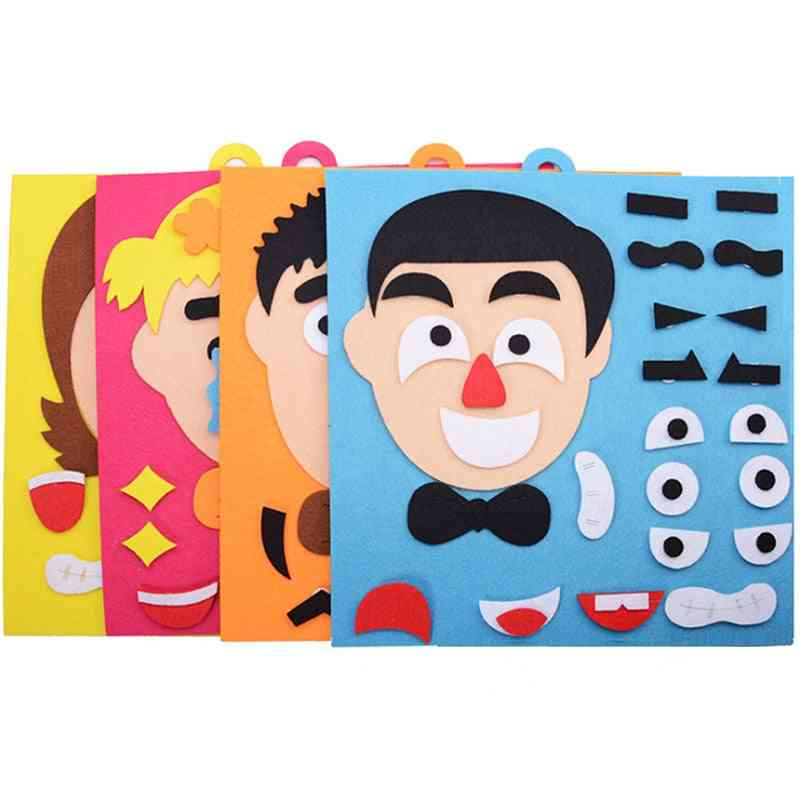 30cm*30cm Creative Facial Expression - Educational Puzzle Toy For