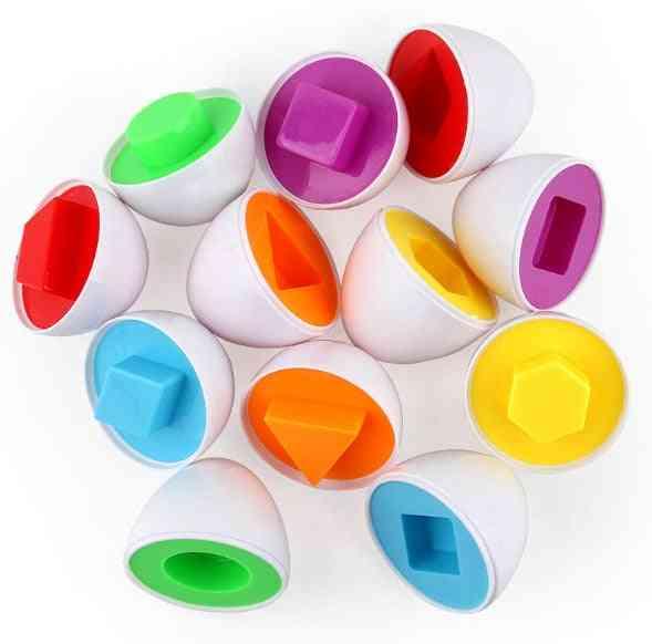 Smart Eggs 3d Puzzle Game - Random Colors & Shapes Montessori Learning Math-
