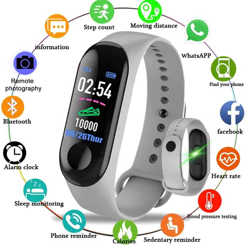 M3 Smart Band Fitness Tracker, Bracelet Heart Rate Monitor Watches, Wristband