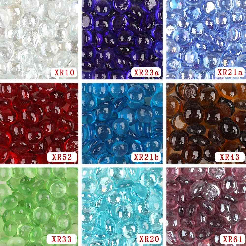 Small Diy Craft Transparent Glass Gems, Drops, Nuggets, Beads