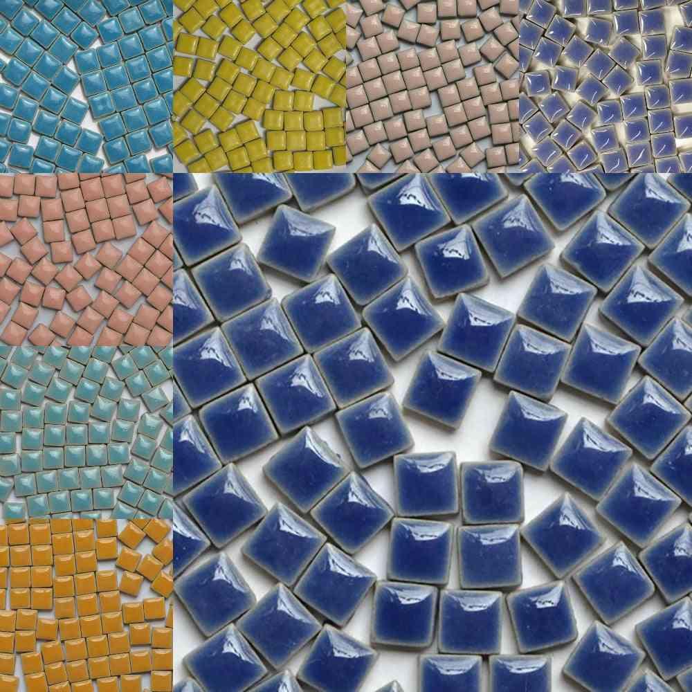 Multicolor, Square Shape Glass Mosaic Tiles - Diy Arts Crafts Making