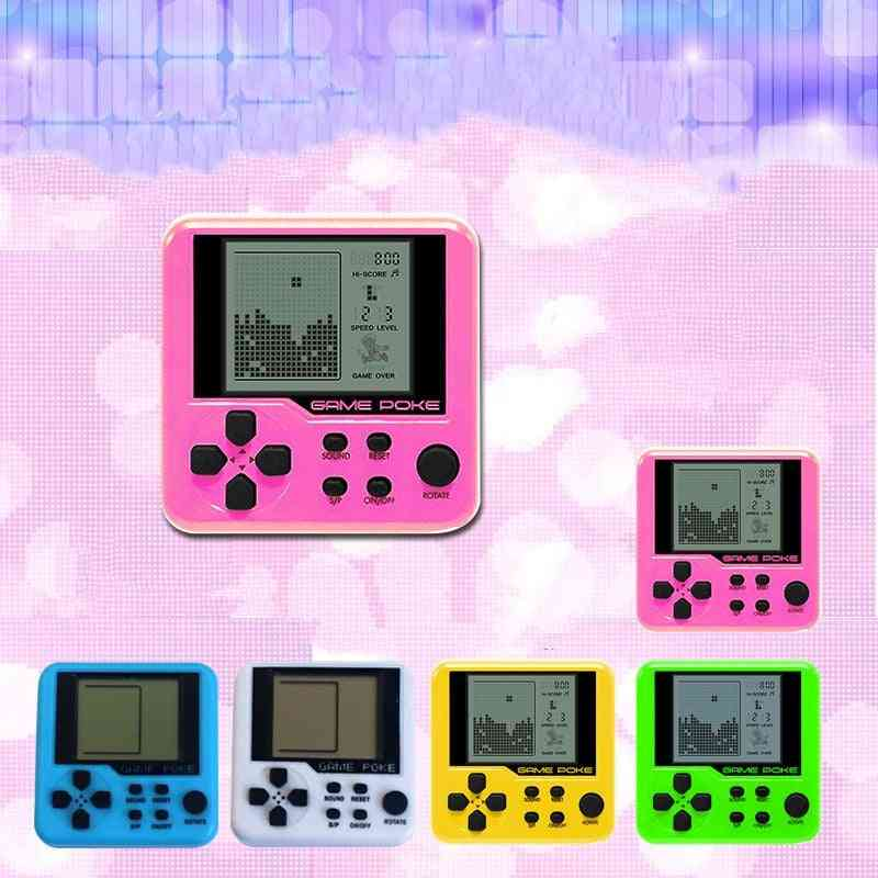 Mini Educational Electronic, Tetris Handheld Game Console Portable Lcd Players Toy