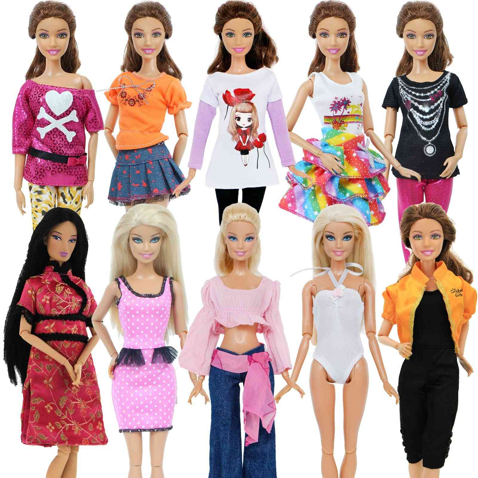 Fashion Outfit Daily Casual Wear, Skirt Clothes For Barbie Doll