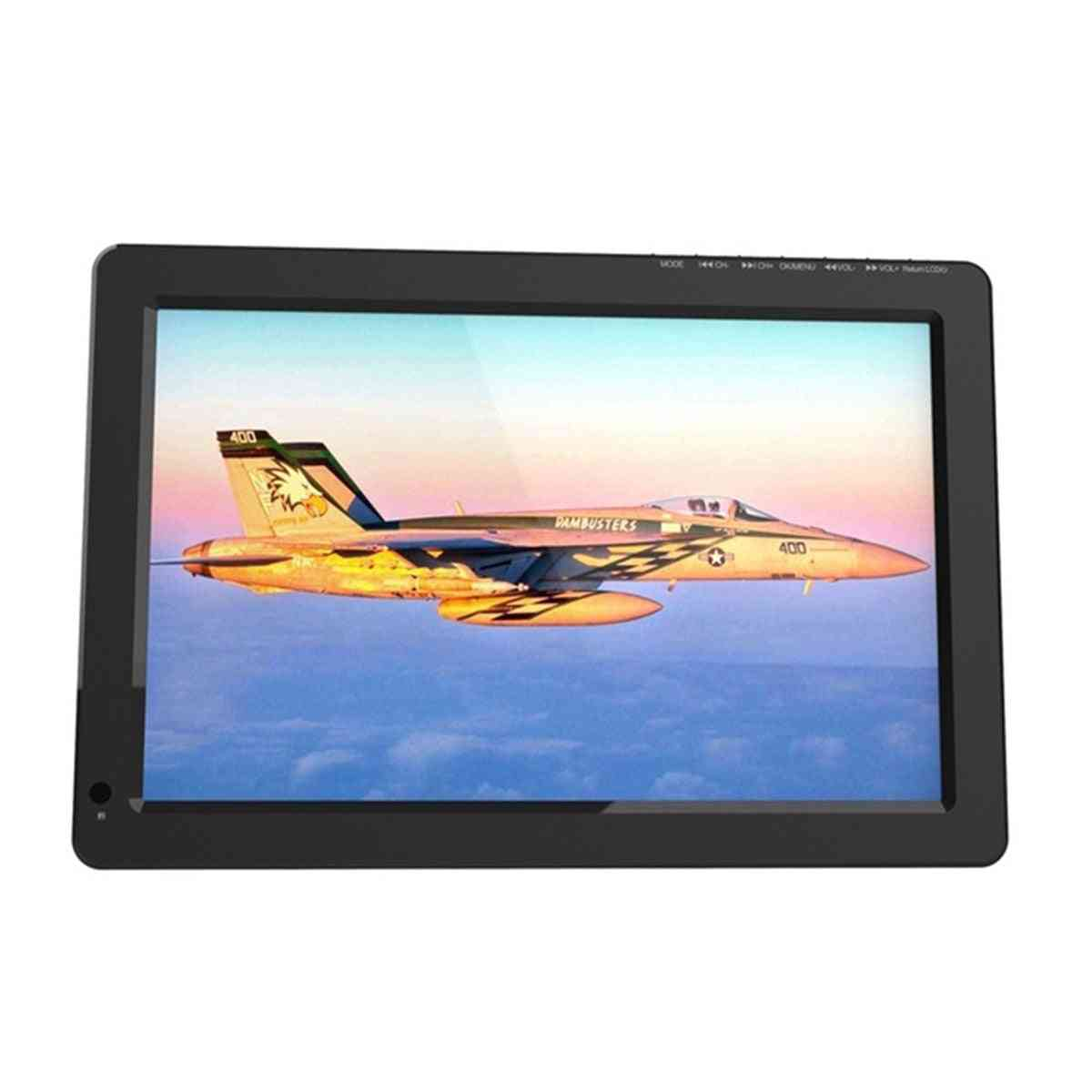 12v 18w 12.1 Inch Portable Digital Mini Tv Dvb-t / Dvb-t2 Tft Led 1080p Hd Car Tv Support Tf Card Usb