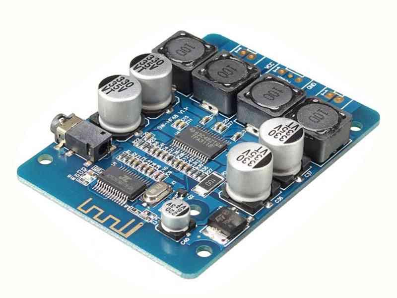 Bluetooth Digital Power Amplifier Board 2x30w Stereo Audio 8-26v Dc H2-001