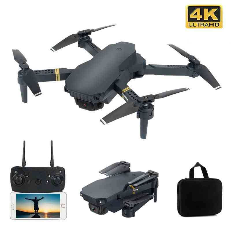 Drone, 4k With Wifi, Optical Flow Rc Drone, Gesture Control - Foldable Type