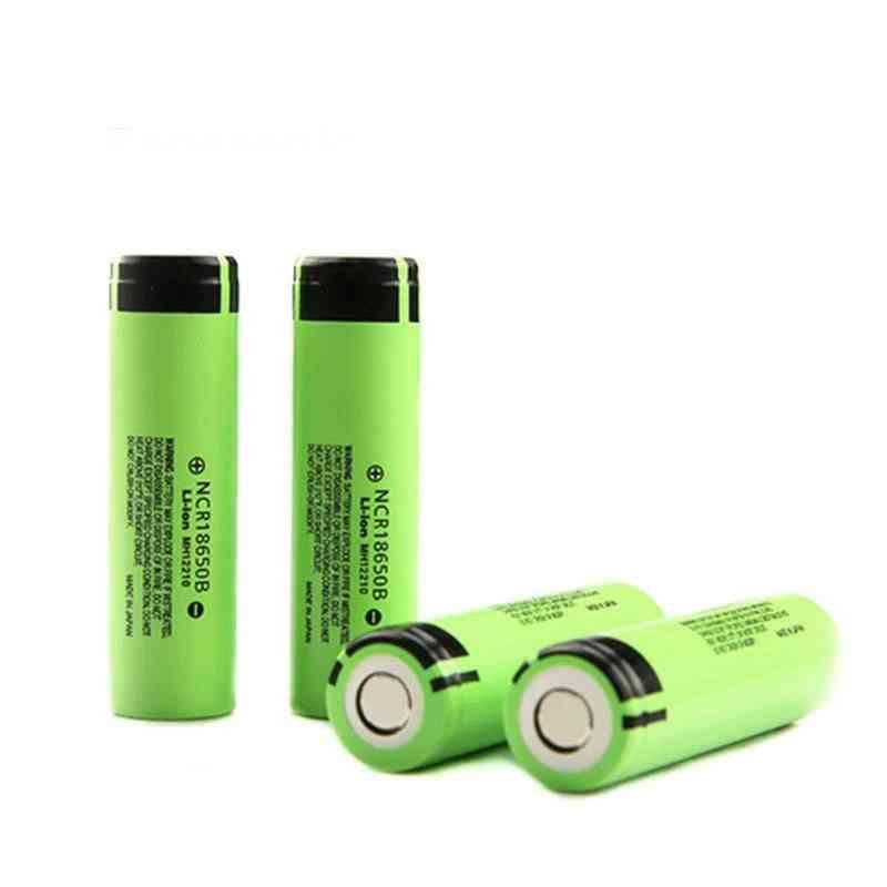 Ncr18650b, 3.7v-3400 Mah, 18650 Lithium, Rechargeable Flashlight Battery