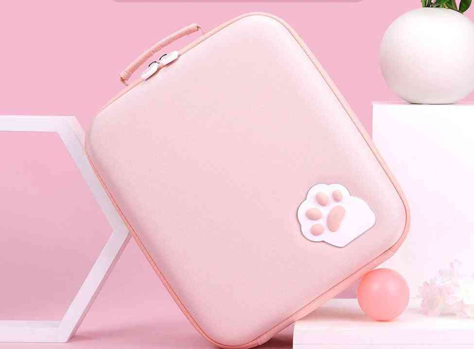 Cute Cat Design-large Capacity Storage Bag For Nintendo Switch System