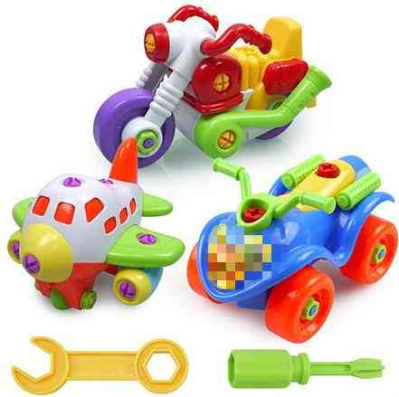 Colorful Pvc Bolts And Nuts, Assembled Toy Car -  Handmade Educational Toys For Children