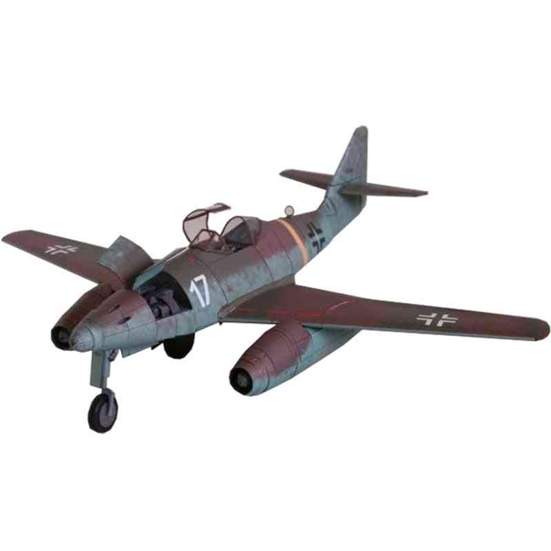 Military Model Educational - Diy 3d Card Assemble, Fighter Plane