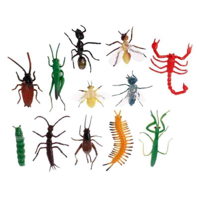 Insect Models- Realistic And Scary Plastic Cockroach, Joke, Gags, Bugs For Children's Cognition