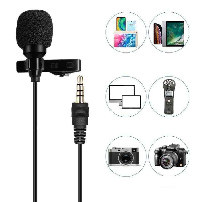 1.5m/6m, Clip-on, Lavalier Microphone For Iphone/android/ipad/dslr