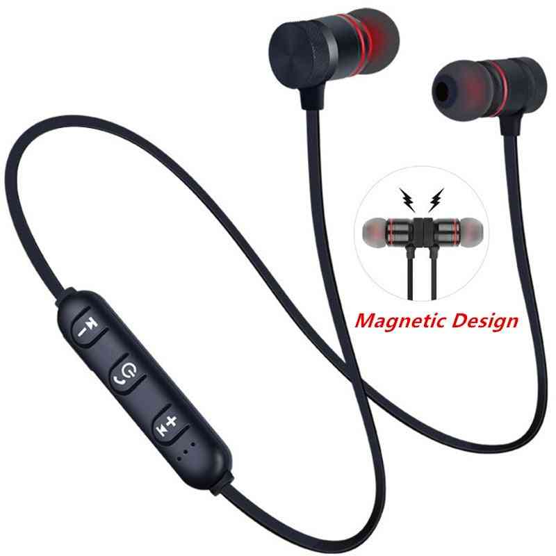 Magnetic Wireless 5.0 Bluetooth Neckband Earphone Sports With Mic For All Phones