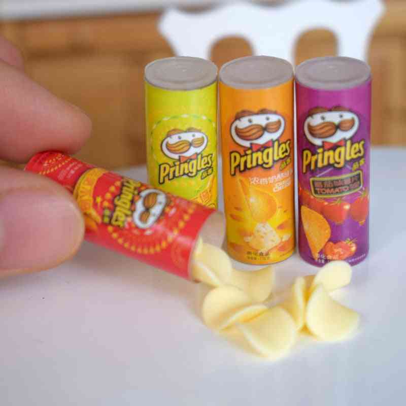 Mini Simulation Potato Chips Bottle-dollhouse Miniature