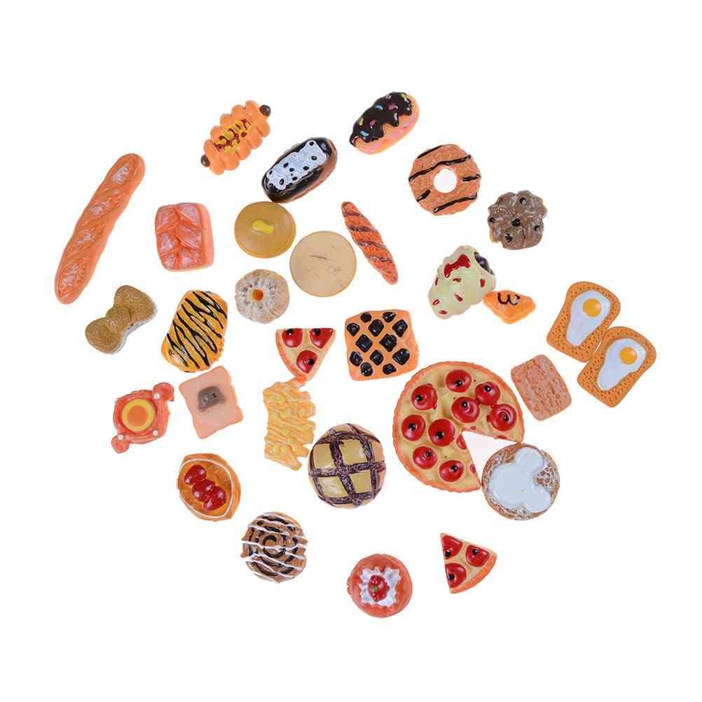 10pcs Home Craft Mini Food Ornament Miniature Decor- Doll House Accessories (10pcs Random Send)