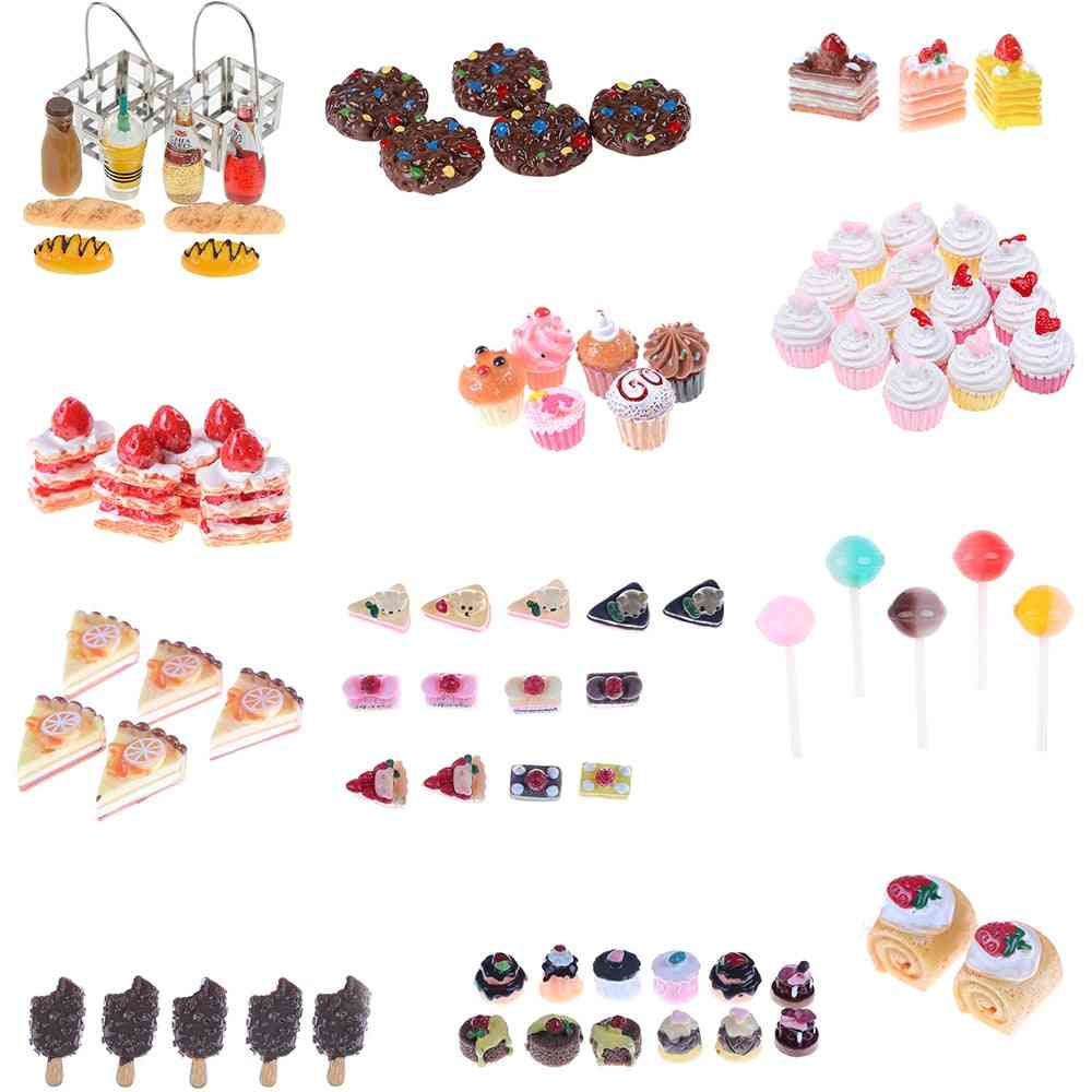 Artificial Bakery Cake, Bread, Food, Fruit-dollhouse Simulation Kitchen Toy