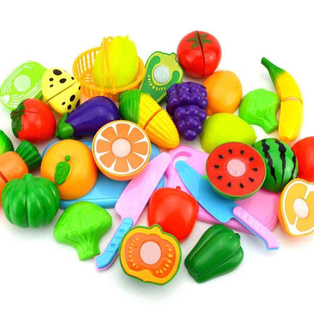 Plastic Food Toy - Cutting Fruit And Vegetable Pretend Play For