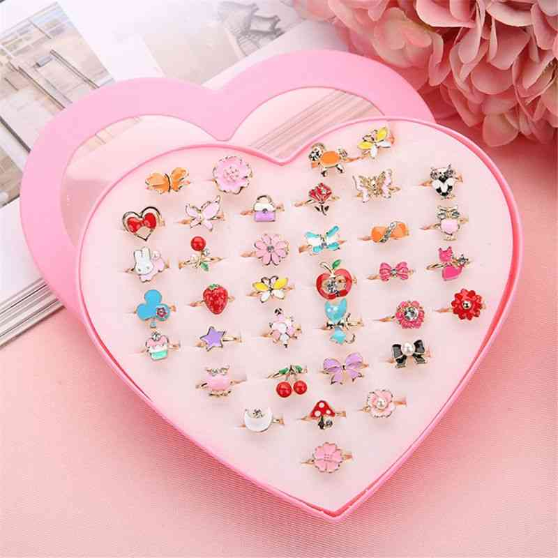 5pcs Fancy, Adjustable, Cartoon And Action Figure Rings