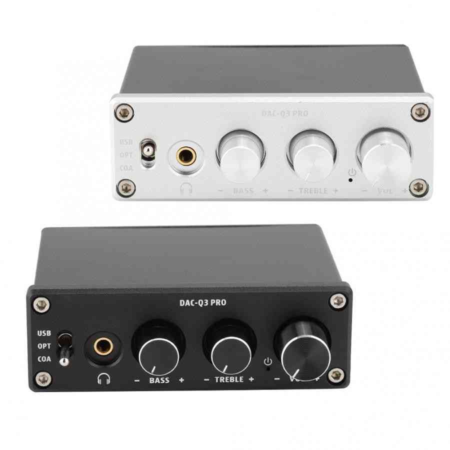Ac-q3 Pro Dac Decoding Digital Audio Decoder With Headphone Amplifier For 3.5mm Headphones
