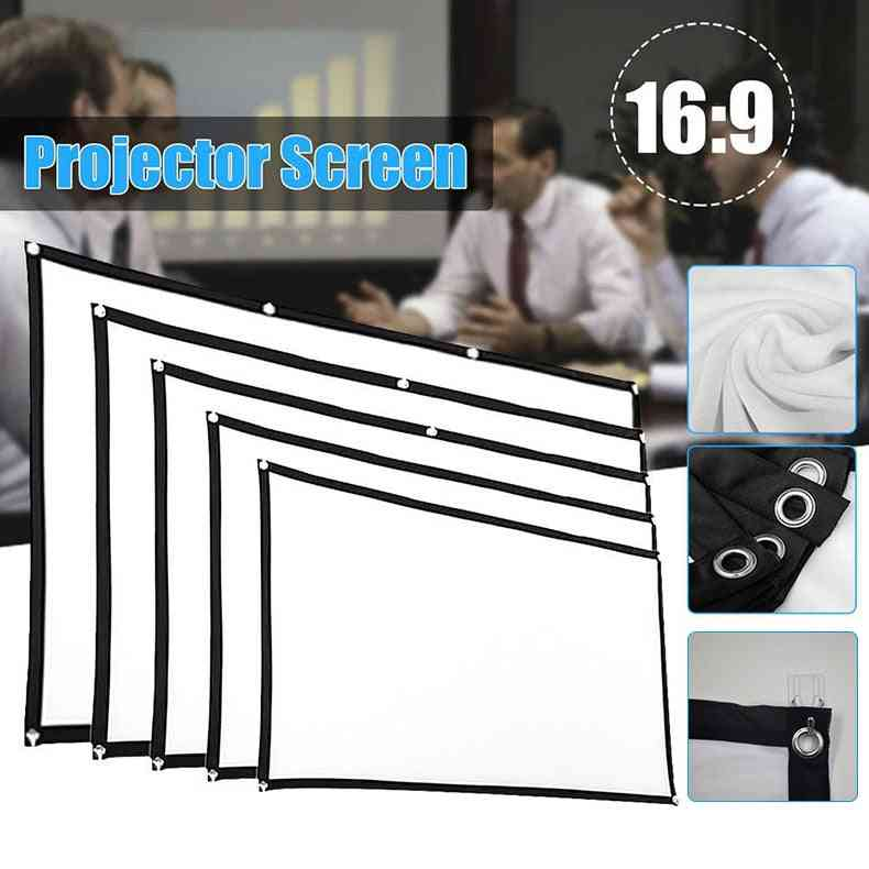 Simple Curtain Home Outdoor Ktv Office Portable 3d Hd Projector Screen