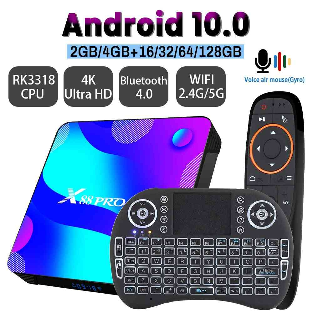 Transpeed Android 10 Tv Box, 2.4g&5.8g Wifi, 32g 64g 128g 4k 3d Bluetooth, Tv Receiver Media Player Hdr+ High Quality