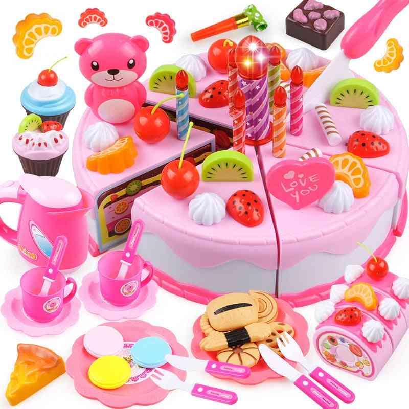 Diy Cake - Food Pretend Play Cutting Fruit