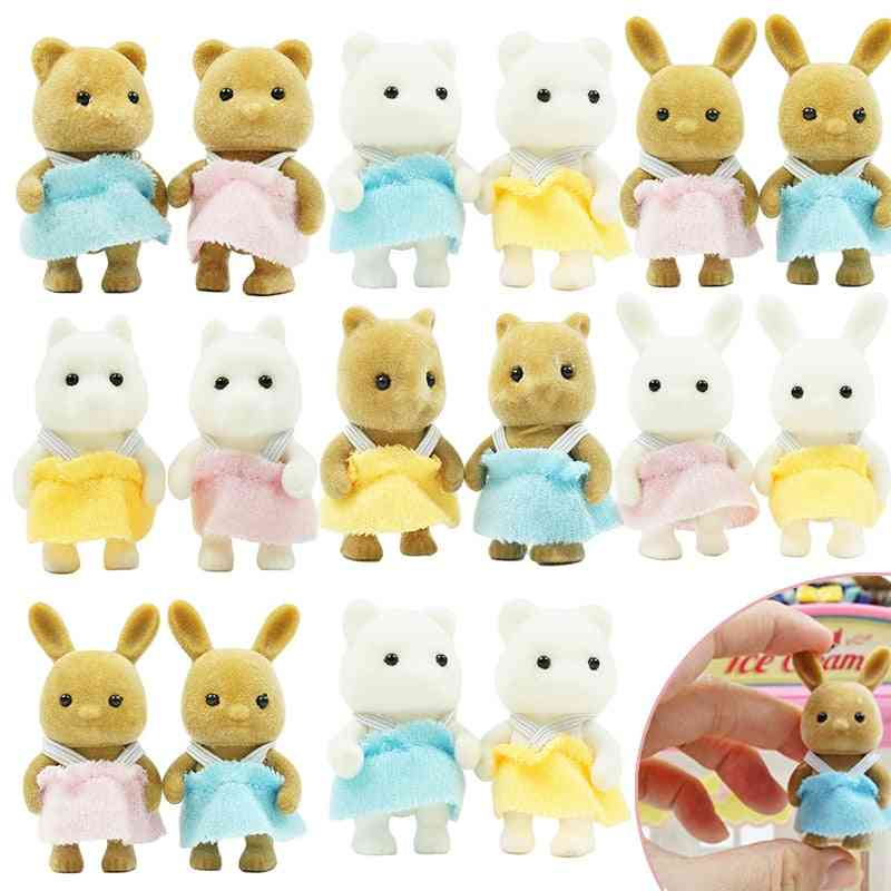 4.5cm Simulation Forest Animal Pattern-baby Doll Set For Girl Play House