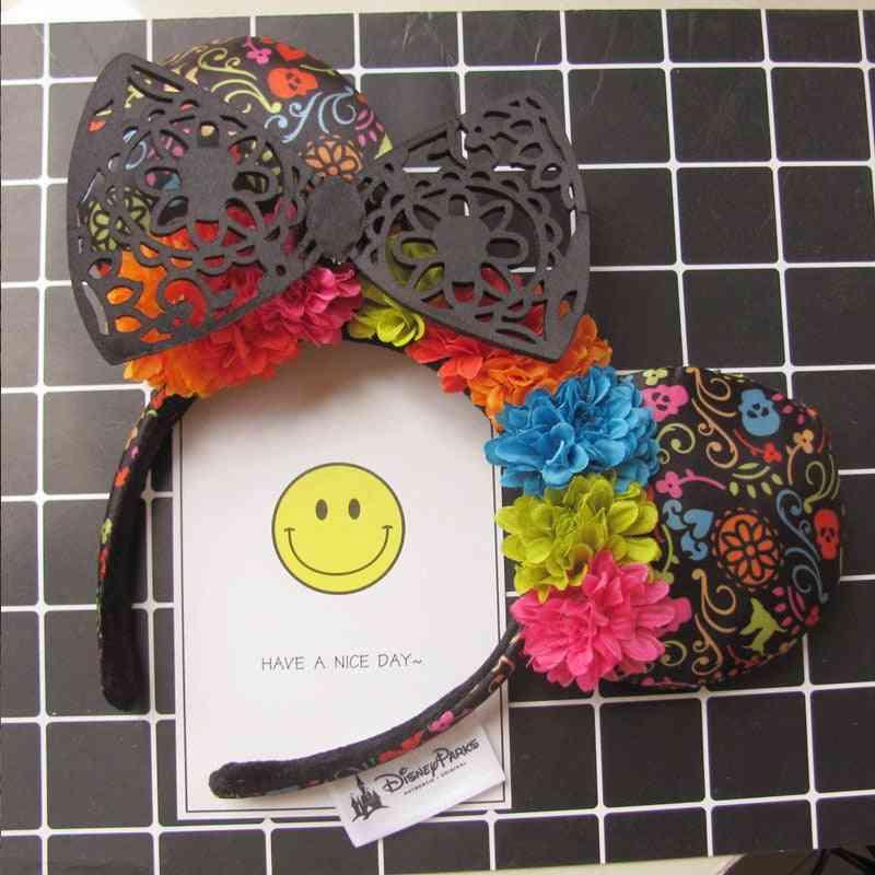 Disney Mickey Mouse Ears, Headband Hair Hoop Duffy Bear Wedding Style Headdress- Party Headwear Girl Birthday