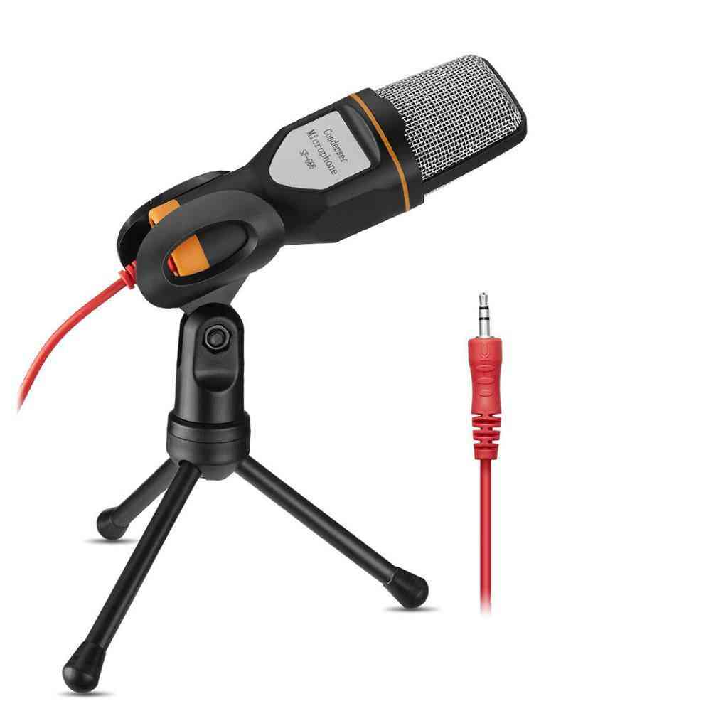Condenser Microphone With Mini Tripod And 3.5mm Y-converter Cable