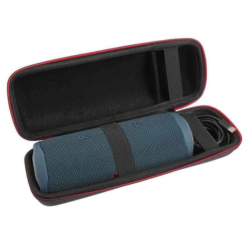 Bärbart skyddande bärande skal förvaringsfodral med karbinhake för jbl flip 5 flip5 högtalare - dubbel säckväv