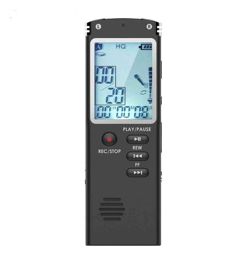 Digital Voice Recorder With External Microphone, 3.5mm Audio Cable And Telephone Adapter