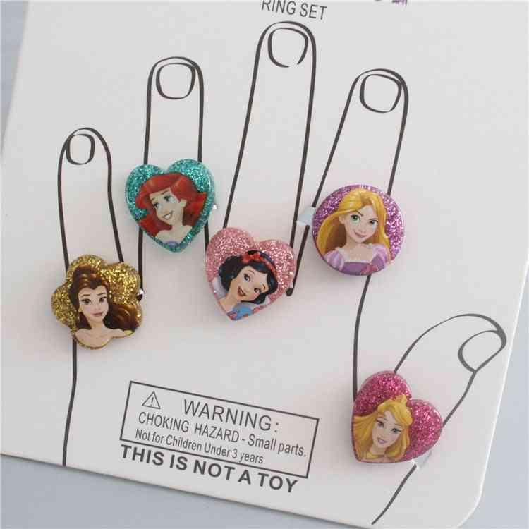 Frozen, Minnie And Princess Design-children's Adjustable Ring
