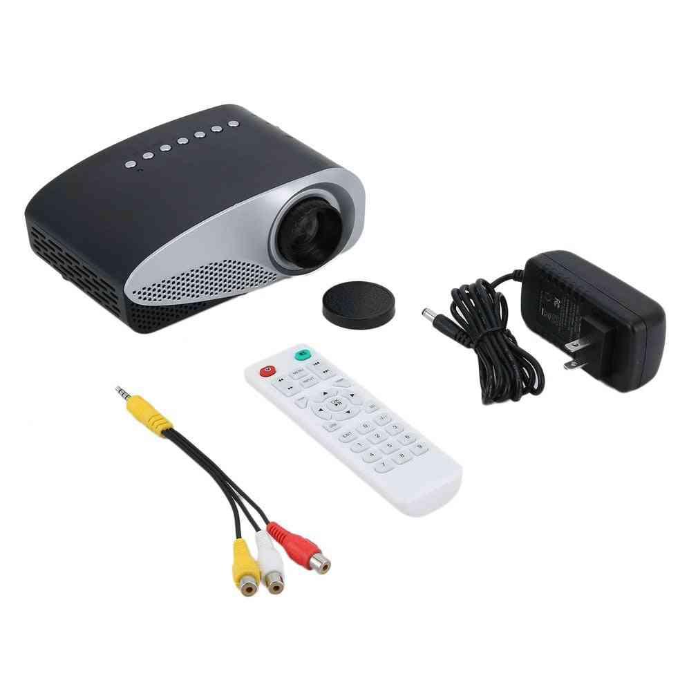 Gp8s Digital Projector Portable Media Player Home Projector, Mini Multimedia Home Theater Cinema Av Vga Usb Us Plug
