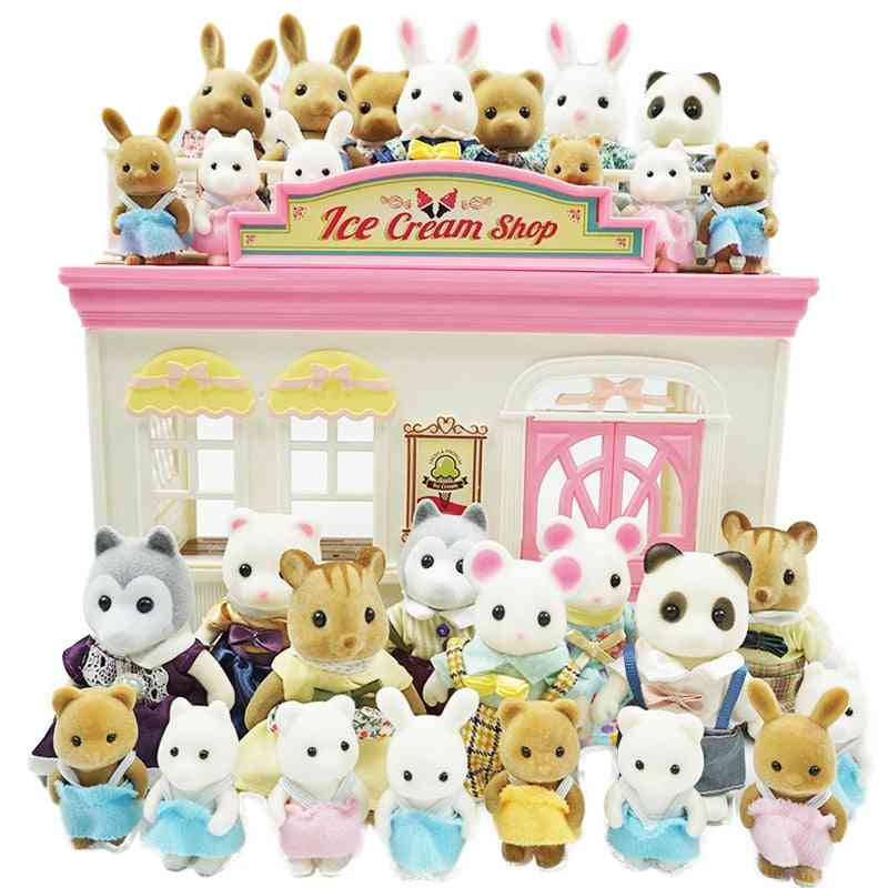 Simulation Forest Animal Family 1:12 Scale For Dollhouse