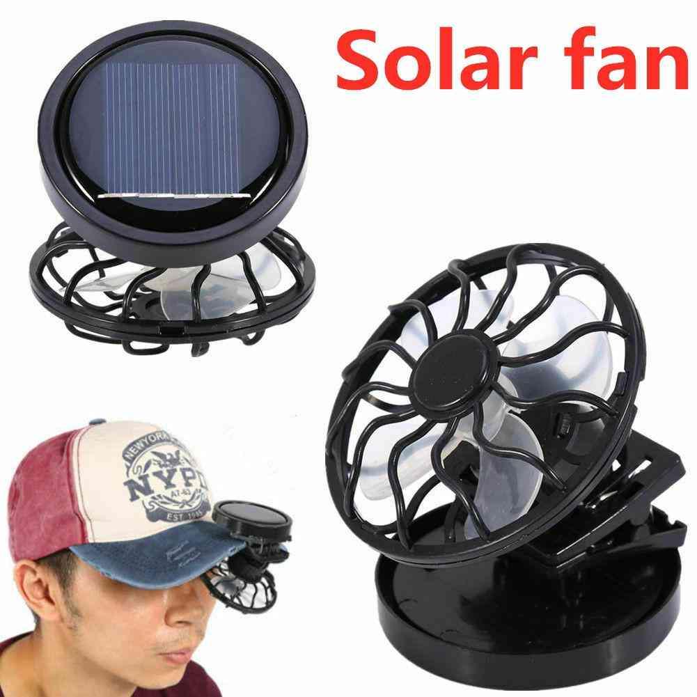 Mini Clip Summer Cooling Fan, Solar Sun Energy Power Panel