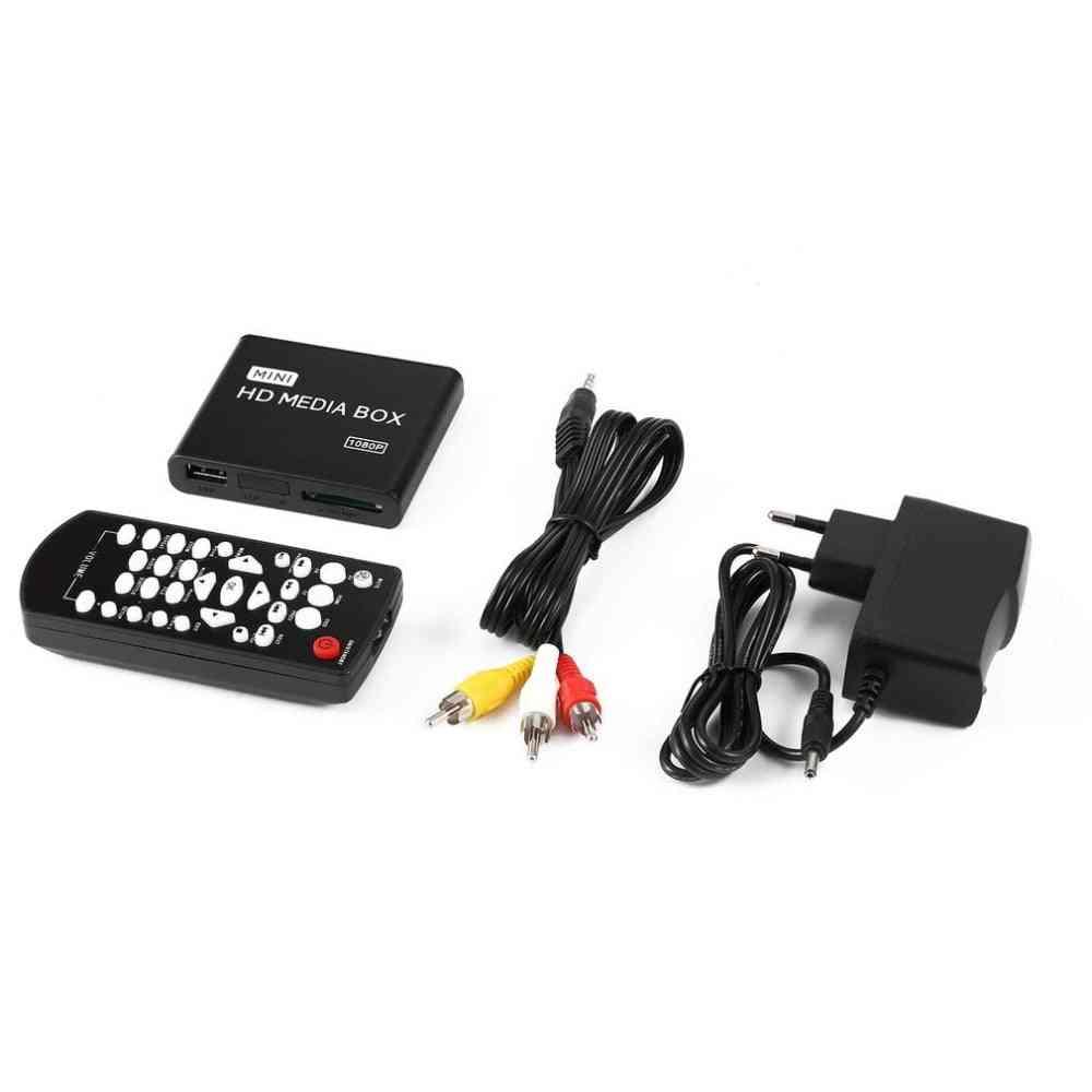 Hdmi Media Player Box, Tv Video Multimedia Player With Eu Plug
