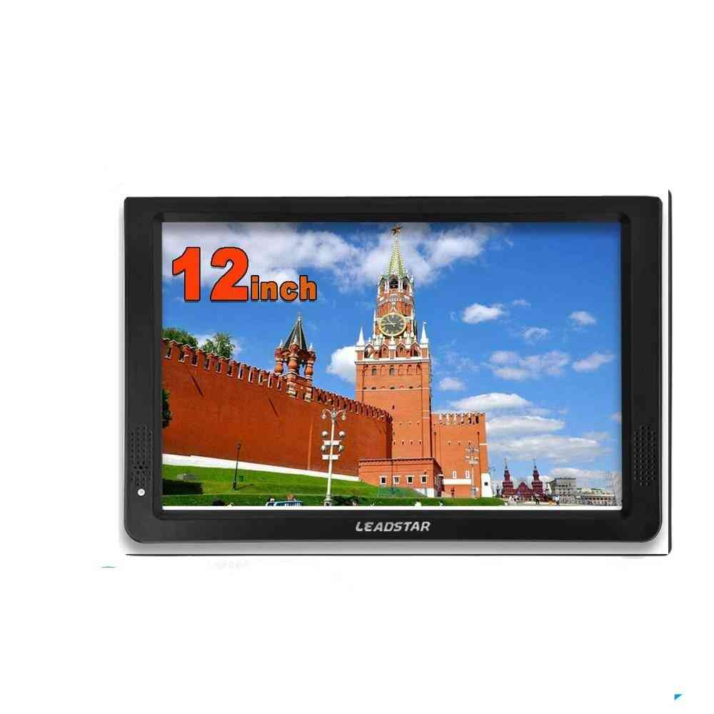 12 Inch Portable Mini Tv, Supports Dvb-t/t2/h265/hevc And Dolby Ac3 1280*800 Tf Card