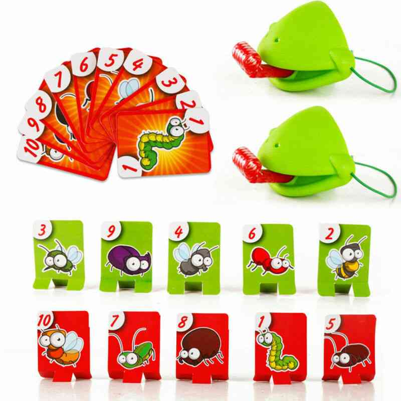 Frog Mouth Take Card Tongue Tic-tac Chameleon Tongue Board Game For Family Party Toy Set