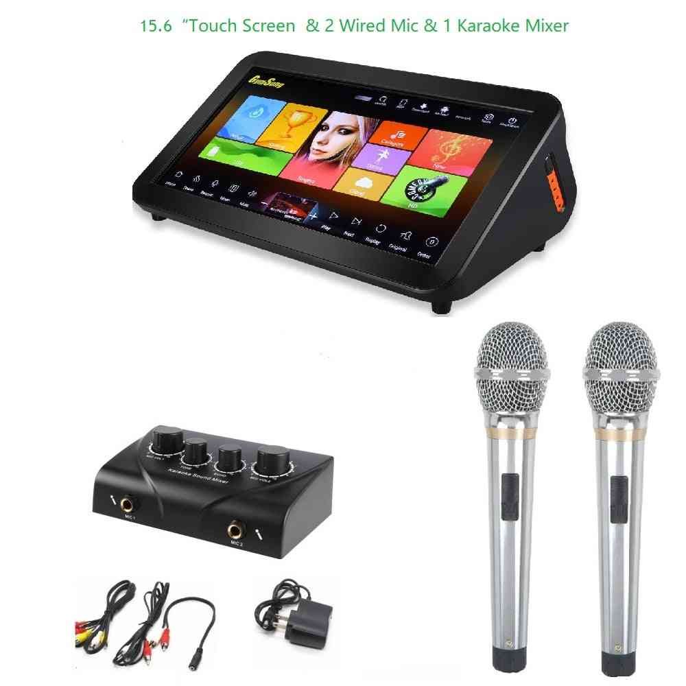 Gymsong Ktv Player Machine Speaker Android With Hard Drive, Touch Screen Karaoke System