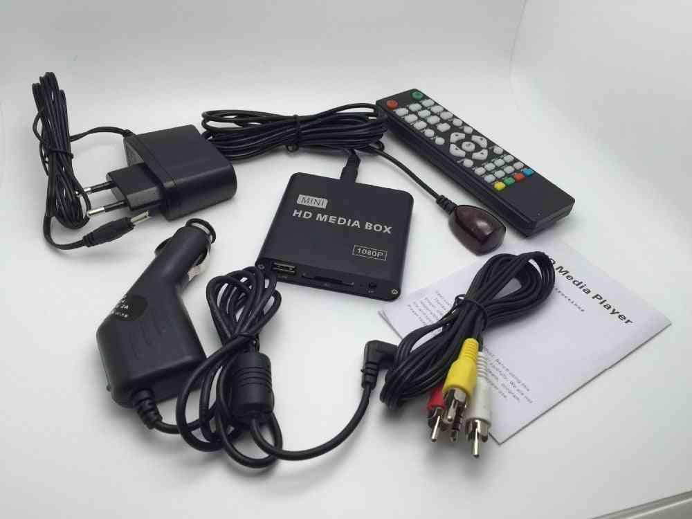 Mini Media Player With Car Charger - Ir Extender Hdmi Av Sd / Mmc