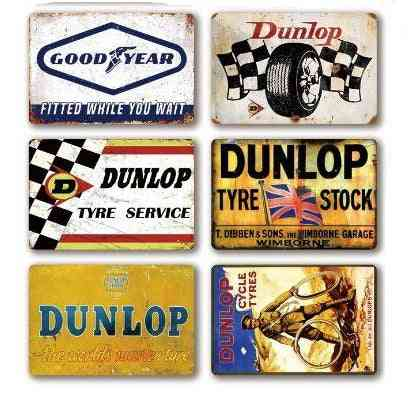 Tire Metal Signs Plate, Metal Vintage Retro, Tin Sign For Wall Decor Of Garage