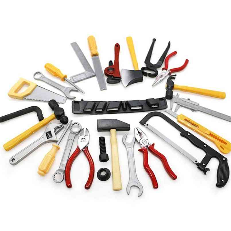 14pcs/set Simulation Repair Drill Tools For- Pretend Play Model Diy Play House Garden Kit