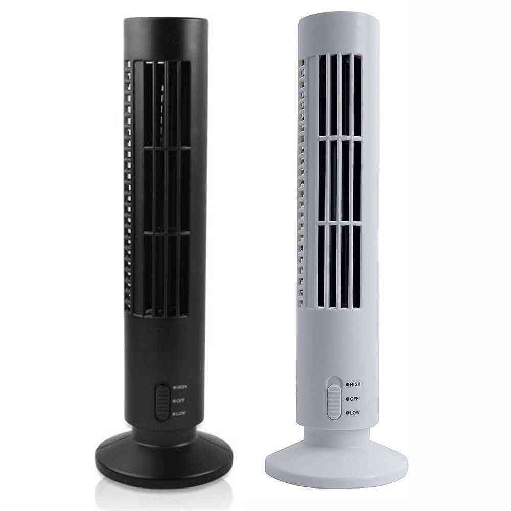 Portable Usb Vertical Bladeless, Mini Air Condition Desk Cooling Tower Fan For Home/office