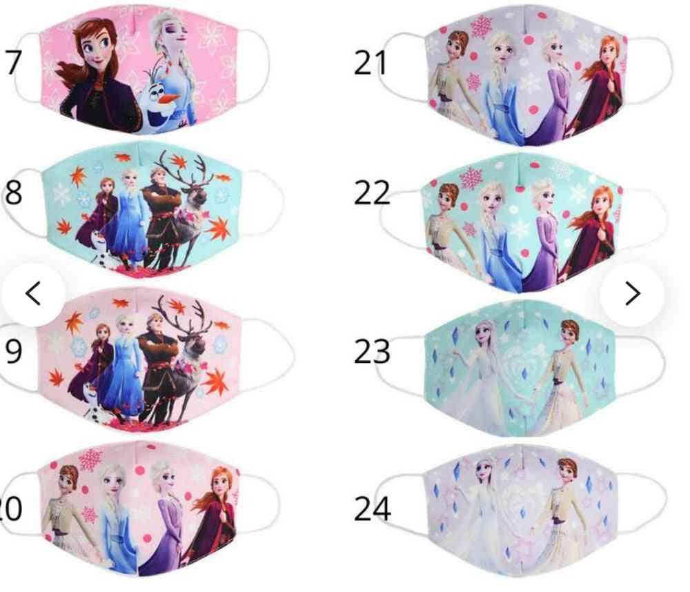 Elsa Anna Olaf Cotton Anti-dust Protective Face Maks For Boy And Girl