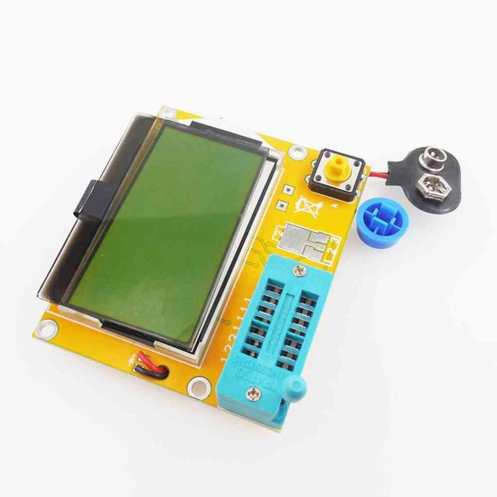 Portable Hw-308 Esr Meter - Digital 12864 Lcd Screen Tester